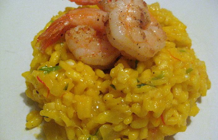 recette risotto de crevettes au curry sur zezette blog de cuisine de zezette. Black Bedroom Furniture Sets. Home Design Ideas
