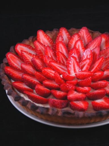 Recette tarte aux fraises sur il etait une fois ma cuisine blog de cuisine de lilotte99 - Decoration tarte aux fraises ...
