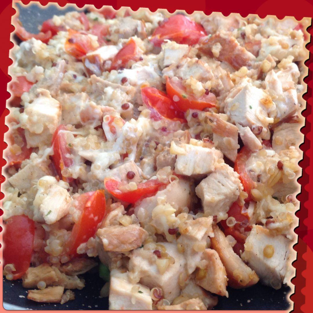 Recette Poêlée de Quinoa au poulet sur À vos fourchettes ...