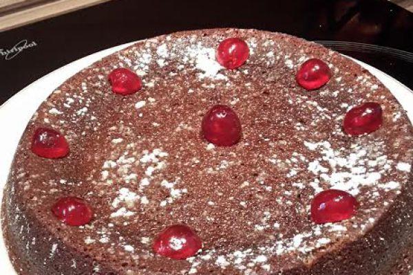 Recette Gateau coulant au chocolat et ses cerises confites