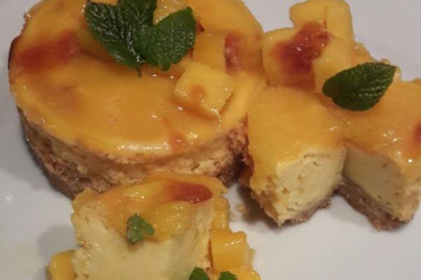 cheesecakes mangue gourmands à ma façon
