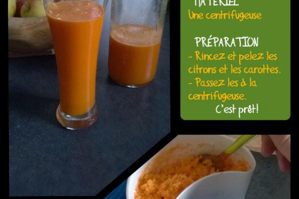 Recette Jus de carotte