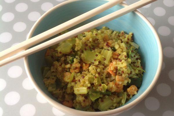 Recette Quinoa et crevettes au curry - 7 pp (6 SP)