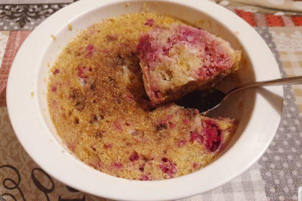 Recette Bowl cake framboise & choco blanc