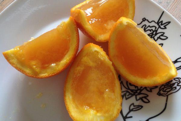 Recette Oranges jelly - 1 pp une orange