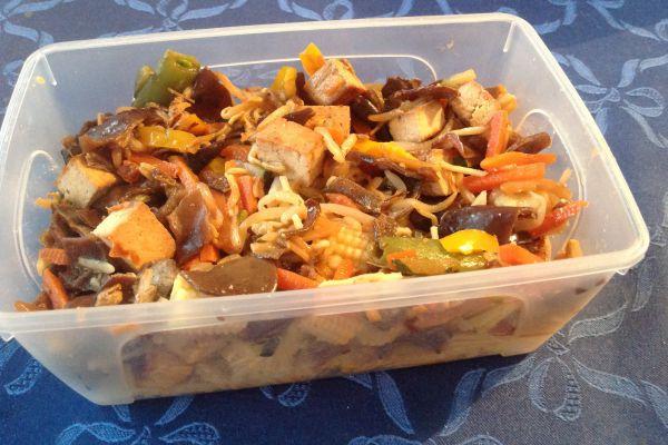 Tofu sauté aux légumes asiatiques - 4pp