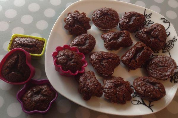 Recette Mini fondants au chocolat - 2 pp les 3 (3 SP)
