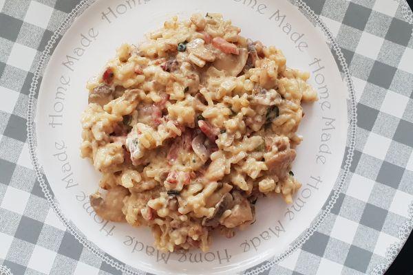 Recette Risotto champignons lardons - 7 pp
