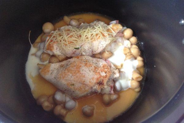 Recette COOKEO - filet de poulet façon cordon bleu