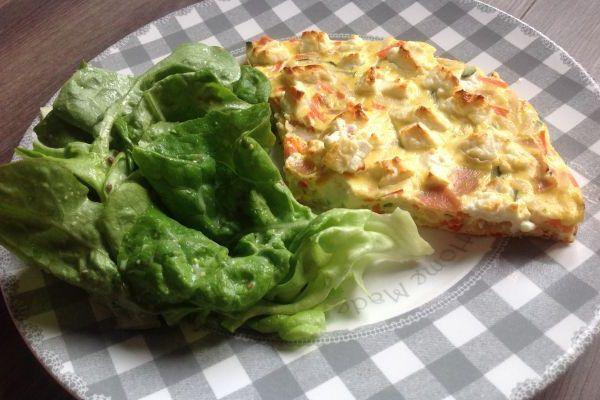 Recette Frittata de légumes et fêta - 7 pp ou 8 SP