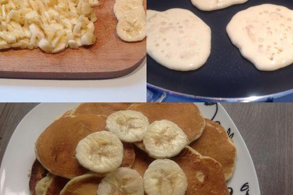 Pancakes à la banane - 3pp pour 5 pancakes
