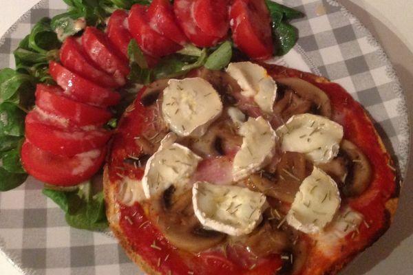 Recette Wrapizza chèvre/bacon - 6 pp