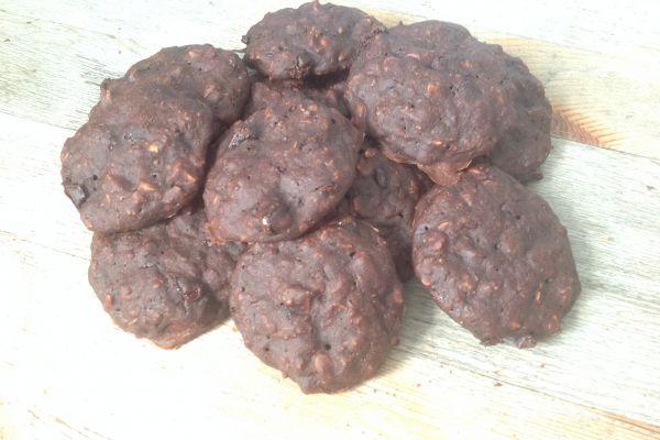 Recette Cookies allégés flocons choco - 1 pp l'un et 3 SP les deux