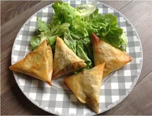 Recette Samossas boeuf/légumes - 4 pour 6 pp