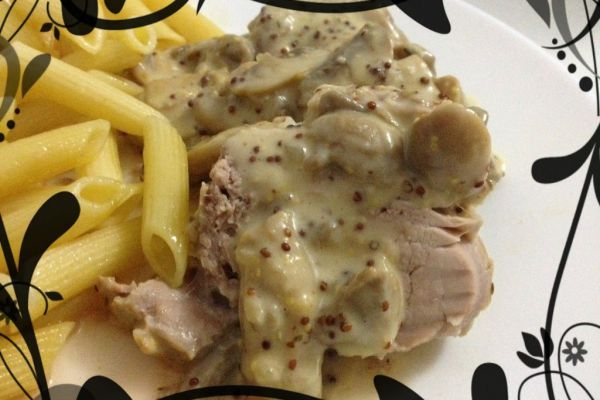 Recette Filet mignon de porc à la moutarde et à la crème
