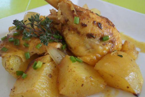 Recette Cuisse de poulet, pommes de terre COOKEO