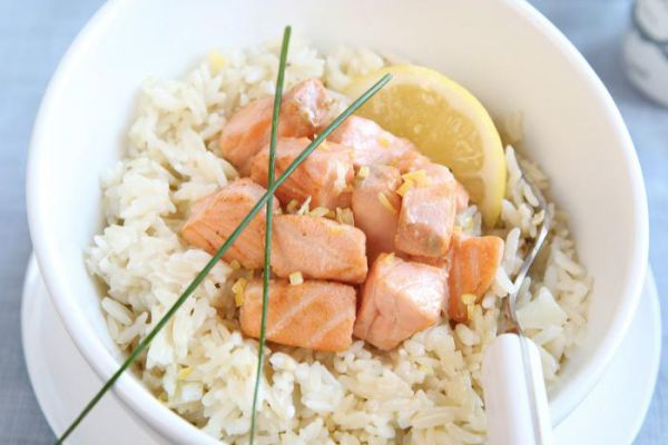 Recette Saumon accompagné de son riz COOKEO