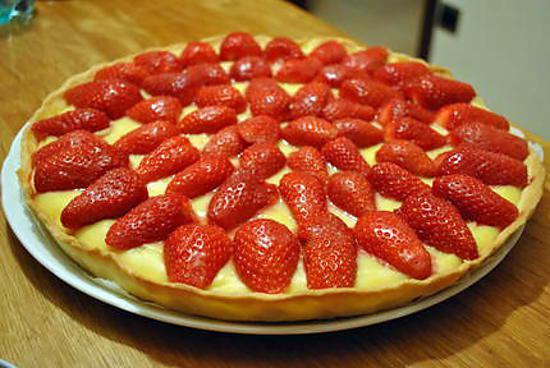 Recette Tarte aux fraises et à la crème pâtissière