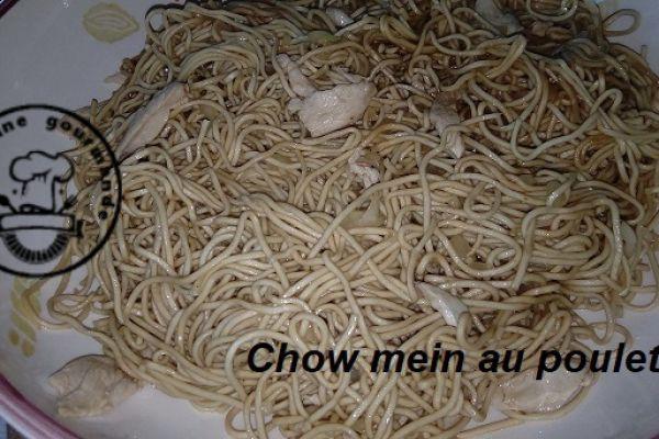 Recette Chow mein au poulet