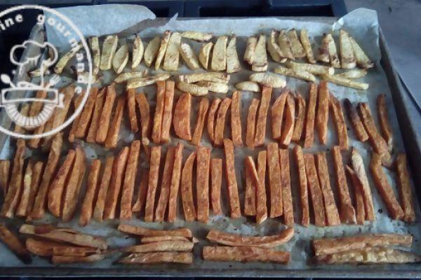Recette Frites de navets et de patate douce