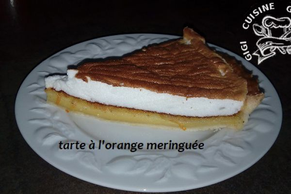 TARTE à l'ORANGE MERINGUEE