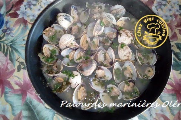 Recette Palourdes a la mariniere de l'ile d'oleron