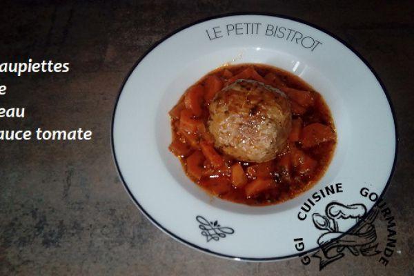 Recette PAUPIETTES de VEAU sauce tomate (cookéo)