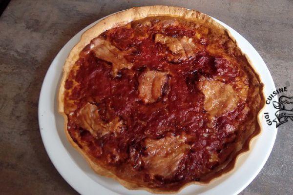 Recette tarte au rocamadour et tomates
