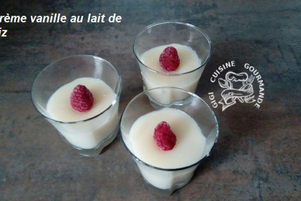 Recette crème vanille au lait de riz