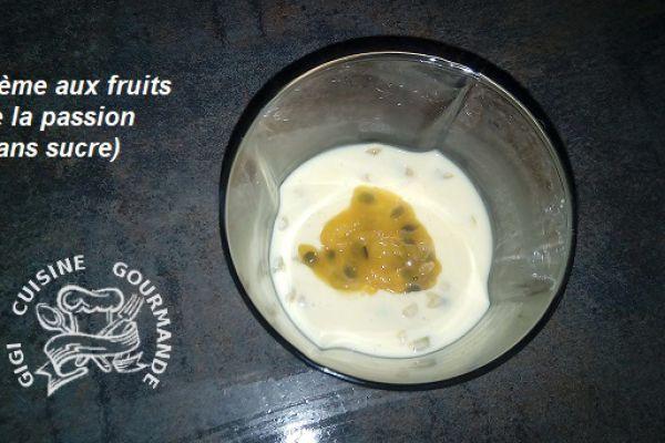 Recette crème aux fruits de la passion sans sucre