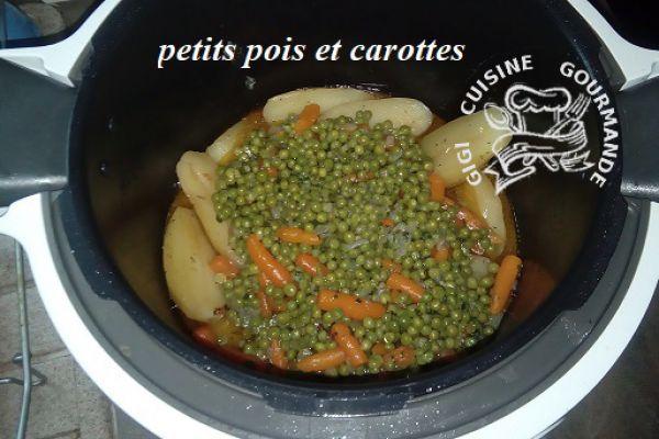 Recette PETITS POIS et CAROTTES au cookéo