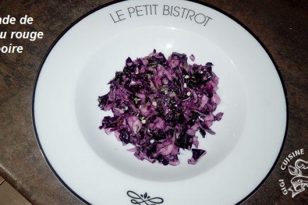 Recette salade de chou rouge et poire au thermomix