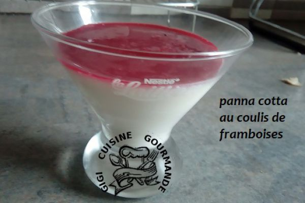 PANNA COTTA et son COULIS de FRAMBOISES (thermomix)