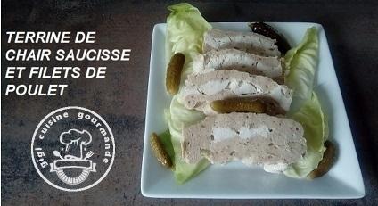 Recette Terrine de chair saucisse et poulet au thermomix