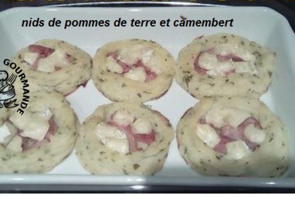 Nids de pommes de terre et camembert (cookéo)