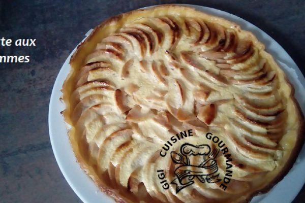 Recette TARTE AUX POMMES congelées et fromage blanc