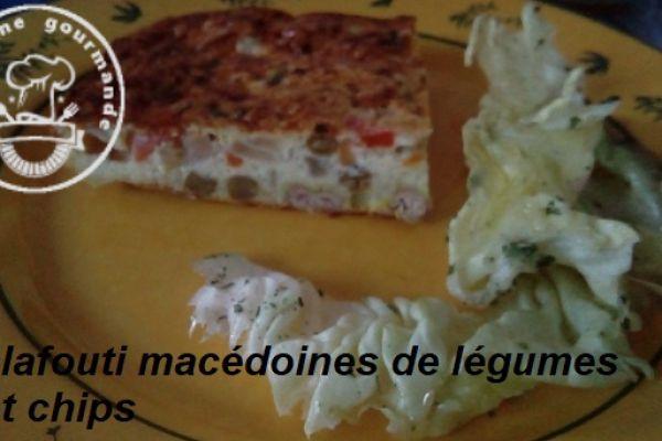 Recette CLAFOUTI MACEDOINE de LEGUMES et CHIPS