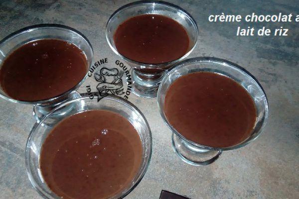Recette crème chocolat au lait de riz