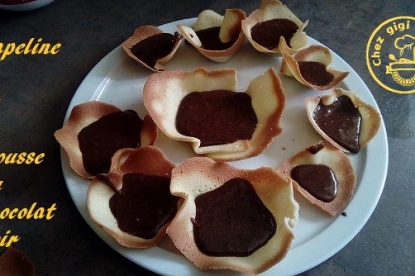 Recette Capelines de mousse au chocolat noir