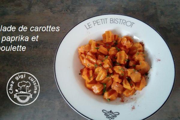 Recette Salade de carottes paprika et ciboulette