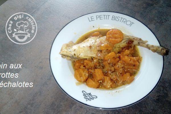 Recette Lapin aux carottes et aux echalotes