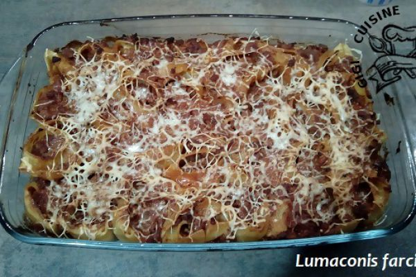 Recette LUMACONIS farcis (COOKEO)