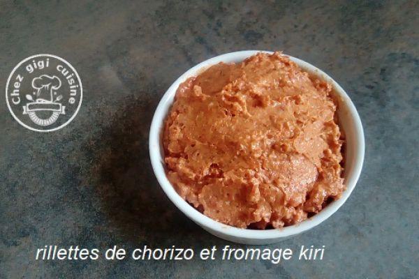 Recette RILLETTES DE CHORIZO ET KIRI au thermomix