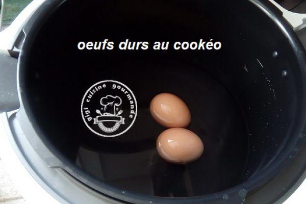 Recette OEUFS DURS au COOKEO