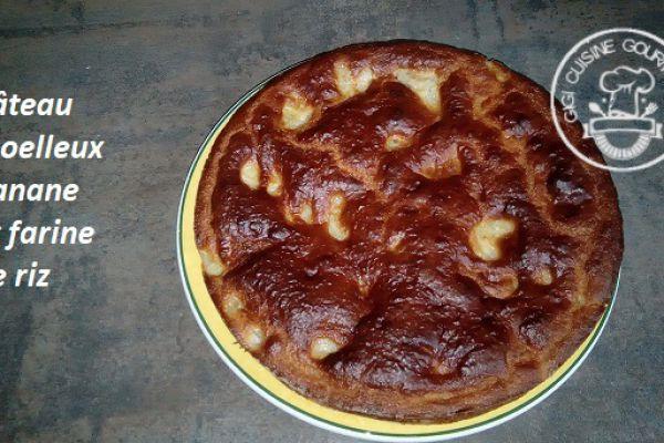 Recette Gâteau moelleux banane et farine de riz