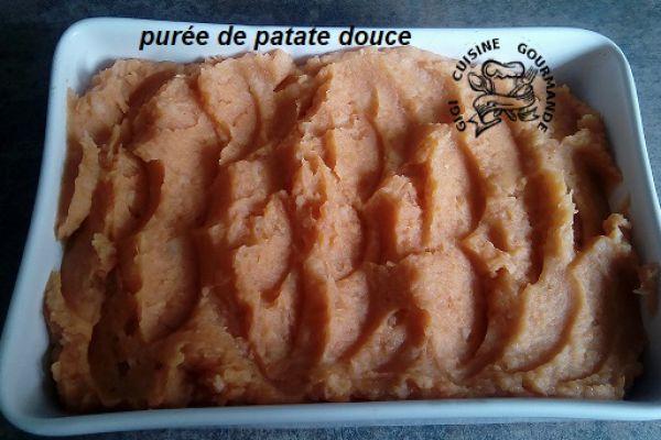 Recette purée de patate douce (cookéo)