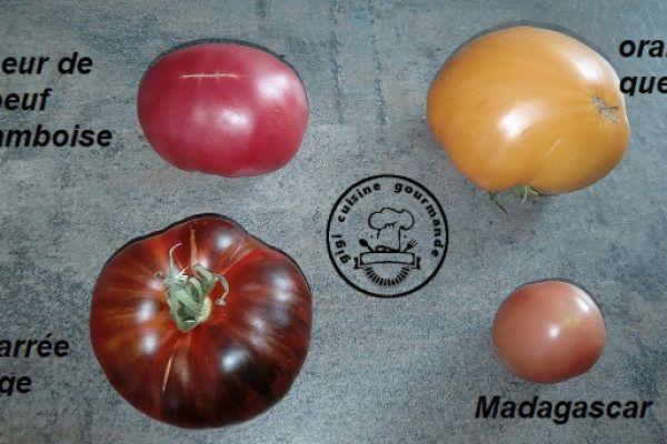 Recette Au bon gout de tomates du jardin