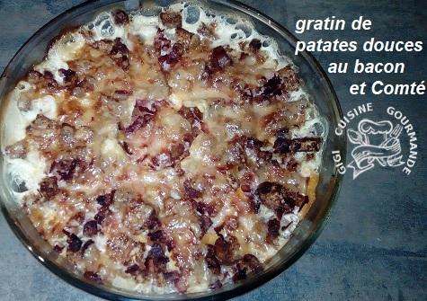 Recette gratin de patates douces, bacon et comté (cookéo)