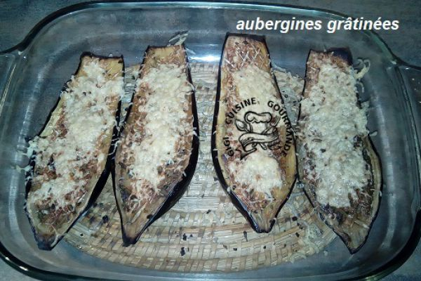 Recette aubergines cuites au four