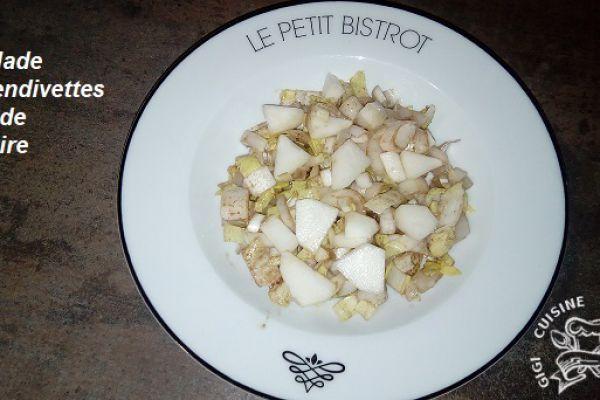 salade d'endivettes et poire